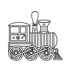 vintage train icon vector image