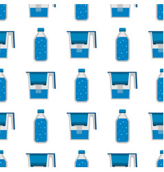 Water purification seamless pattern background vector