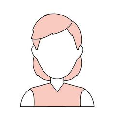 woman faceless profile vector image