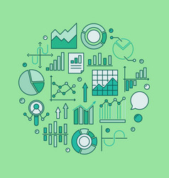 colorful data analysis vector image