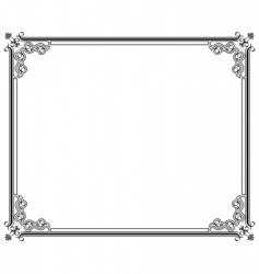 corners and borders vector image vector image