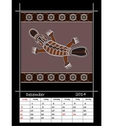 December 2014 - Platypus vector image