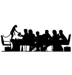 Monkey business leader vector image