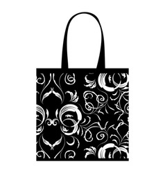 Shopping bag design floral ornament vector image