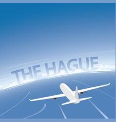 the hague flight destination vector image vector image