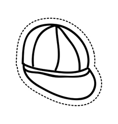young cap idrawing isolated icon vector image vector image