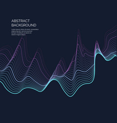Abstract background with a dynamic waves and vector