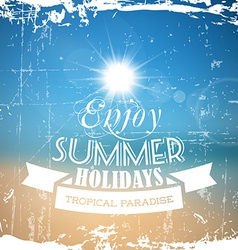 abstract summer poster with beach background vector image vector image