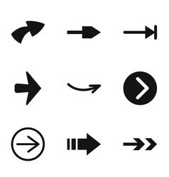 Arrowhead icons set simple style vector