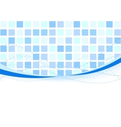 background - blue tiles vector image vector image