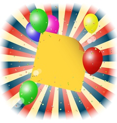 balloons with stick for yout text vector image vector image