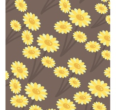 chrysanthemums wallpaper vector image vector image