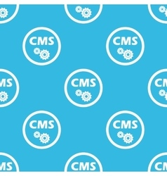 CMS settings sign blue pattern vector image vector image