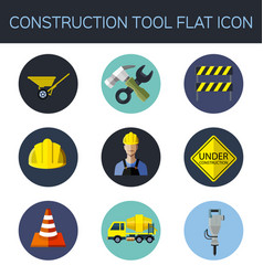construction tool flat icon vector image vector image