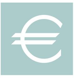 euro symbol the white color icon vector image