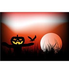 Halloween scarecrow background vector image vector image