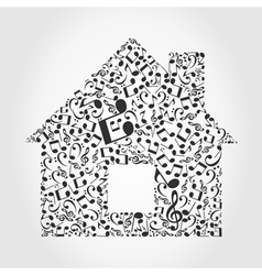 Music the house vector image