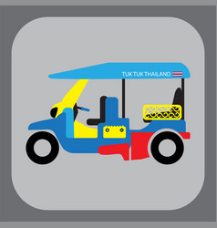 thai traditional tuk tuk in bangkok vector image