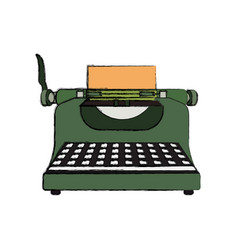 typewriter vintage device vector image