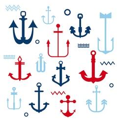 Various Anchor Collection vector image