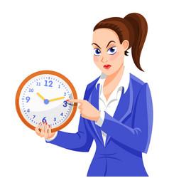 Angry boss woman character vector
