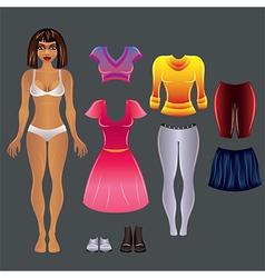 barbie black clothes set vector image