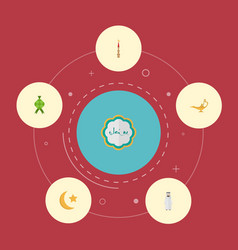 Flat icons mosque malay arabian and other vector