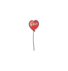 heart balloon icon vector image