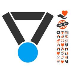 champion award icon with love bonus vector image vector image