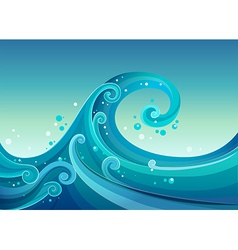 High waves at the sea vector image