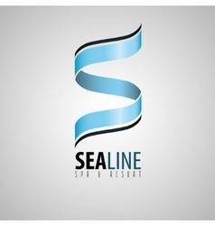 S logo spa and resort logo spa logo sea design vector