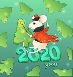 2020 year mouse new years bright cute vector image