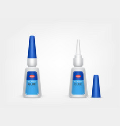 3d realistic blue plastic tube of glue vector image
