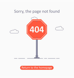 404 error page not found template with traffic vector