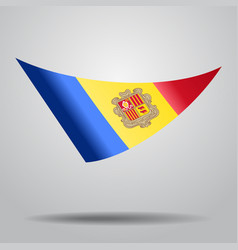 Andorran flag background vector