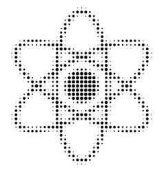 Black dot atom icon vector
