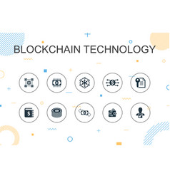 blockchain technology trendy infographic template vector image