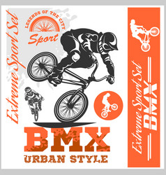 Bmx t-shirt graphics extreme bike street style vector