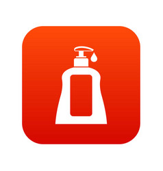 body care lotion icon digital red vector image