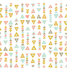 Boho chic tribal seamless pattern vector