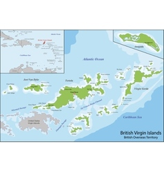 British Virgin Islands map vector image