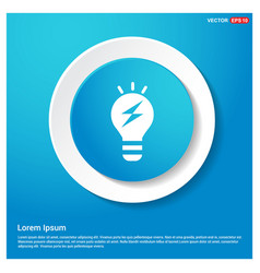 bulb concept creative idea icon vector image