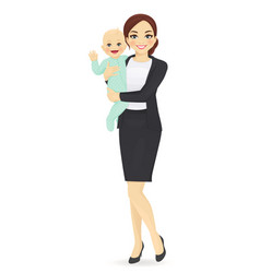 business woman with baby vector image