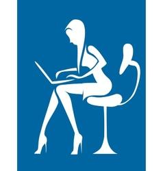 businesswoman in office vector image