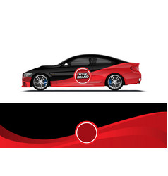 Car decal wrap design vector