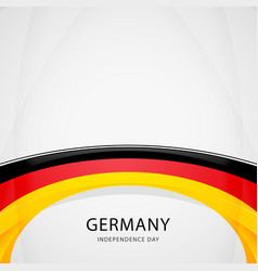 celebrating germany independence day vector image