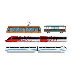 City railway transport vector