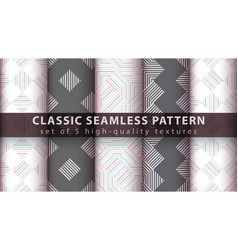 Classic seamless line and wave pattern vector
