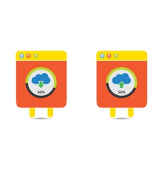 Cloud download and upload icon 22 vector