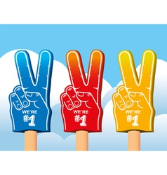 Color set of foam hand vector